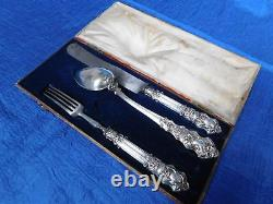1844. Antique Austrian Silver Cutlery Set In Original Wooden Box