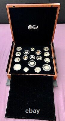 2016 Royal Mint UK Premium Proof Collector 16 Coin Set, Wooden Box
