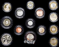 2019 Royal Mint Premium Proof 13 Coin Year Set Wooden Box + COA £5 1p RARE