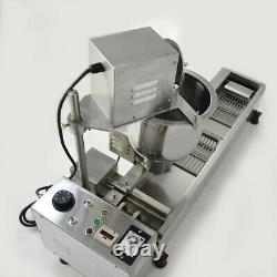 220V 3KW Commercial Automatic Donut Maker Making Machine Oil Tank & 3 Sets Mold