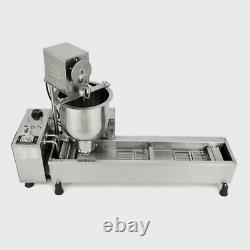 220V Wide Oil Tank Automatic Making Machine Commercial 3 Sets Mold Donut Maker