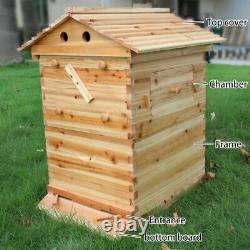 7x Beekeeping Honey Hive Frames pr Wooden Beehive Brood House Box Harvesting UK