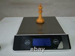 ANTIQUE CHESS SET BCC STAUNTON PATTERN K 81 mm + ORIG BOX NO BOARD