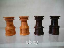 ANTIQUE CHESS SET ST GEORGE PATTERN JAQUES K 85mm AND BOX NO BOARD