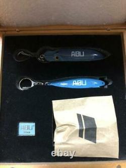 Abu Garcia 100th Anniversary Lure Hi-Lo Toby Pin Badge set in Wooden Box Limited