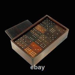 Alfred Klitgaard 1926-2005. Solid Rosewood & Sterling Silver boxed Domino Set