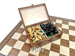 Amazing THE QUEEN'S GAMBIT Professional Chess Set Pieces 3,5 + Board + BOX