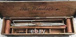 Antique Croquet Set In Original Wooden Case/Box