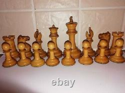 Antique Jaques Staunton Chess Set Weighted 3 1/2 Kings C1875 Tarrasch Boxed