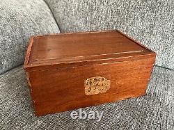 Antique Original Chinese Handmade Wooden Boxed Ma Jong Set (Bone+Bamboo)1920-40