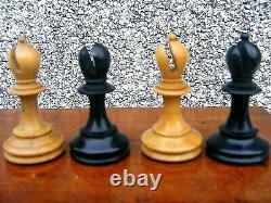 Antique Staunton Chess Set & Wooden Box