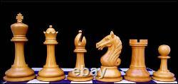 Antique Warrior Series Premium Staunton 4 Ebony and Box Wood Chess Set