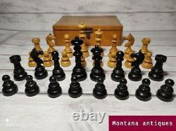Antique original Rare 1930s Austrian wood chess set in original box