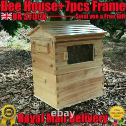 Beekeeping Honey Hive 7pcs Frames or Wooden Box Beehive Brood House Harvesting