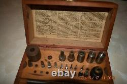 Bergeon Bushing Clock tool of 23 Accessories set ONLY with wooden box