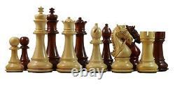Bridle Series Premium Staunton 4.4 Chess Set in African Padouk and Box wood