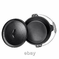 Bruntmor Pre Seasoned 7 Piece Cast Iron Cookware Set Pots and Pan Set with Box