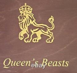 COMPLETE Set Of 2oz Queens Beasts In Beautiful Wooden Box