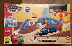 Chuggington Wooden Railway Rare New in Box Brewster's Icy Escapade Set 2012
