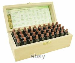 Complete set 10ml Bach Flower Remedies in Wooden Box non-alcohiic preservative
