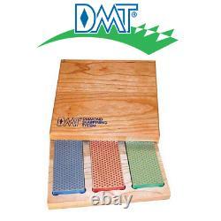 DMT Diamond Whetstones 3 Stone Set In Wood Box