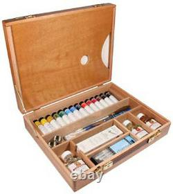 Daler Rowney AOG Artists Quality Oil Colour Deluxe Wooden Box Set