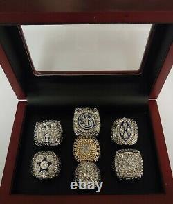 Dallas Championship 7 Ring Set With Wooden Box. Cowboys Mavericks Stars Aikman