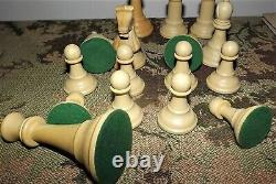 Drueke No. 38 Imperial Chess Set Staunton Chessmen. 5 King with Wood Box