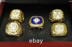 Edmonton Oilers Stanley Cup 5 Ring Set WITH Wooden Box. Gretzky Messier