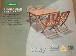 Florenville Wooden 4 Seater Garden Furniture Set Boxed and Brand New