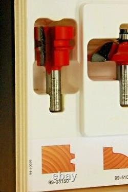 Freud Pro Professional Woodworking 5 Piece Router Bit Set 94-10050 in Wooden Box
