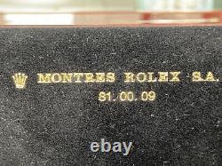 GENUINE Vintage LARGE ROLEX Watch Mahogany Wood Box Case 81.00.71, Complete Set