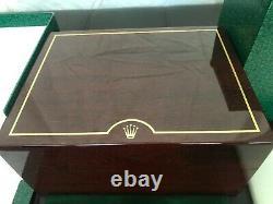 GENUINE Vintage ROLEX Watch Mahogany Wood Box Case 81.00.71, Complete Set