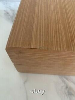 Genuine OMEGA Wood Watch Box, Card, Case Set with white Outer Box brown