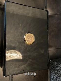 Genuine Vintage ROLEX Cellini Watch Black Wood Box Case 50.00.09, Complete Set