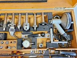 HAUSER BIENNE SWITZERLAND Jig Borer Tooling Set Boring Bars Collets Wooden Box