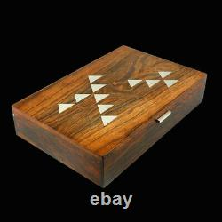 Hans Hansen. Rio Rosewood & Sterling Silver boxed Domino Set 1960s