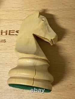 Henri Chavet Chess Set Wooden Pieces Boxed B210 / 153/6 Size 6 Vintage