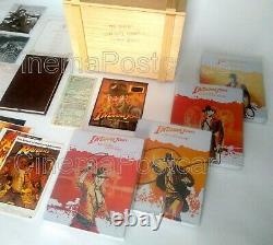 Indiana Jones Raiders 4K UHD Blu Ray Steelbook 4 Autographs+Wooden Crate Box Set
