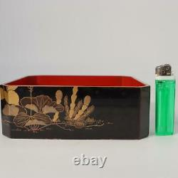Japanese Antique wooden Jubako Gold Makie lacquer box set Meiji period WBX67