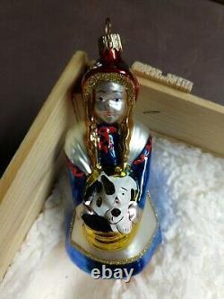 Kurt Adler WIZARD OF OZ Polonaise Set of 4 Christmas Ornaments in Wood Box 1997