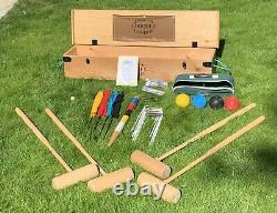 Luxury Jaques Croquet Set with Ash Mallets and Wooden Box