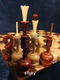 MCM Wooden Chess Set WithBox 4.75 King Russia
