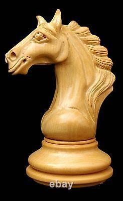 Macedon Series 4.4 Luxury Staunton Chess Set in Padouk and Box wood