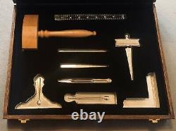 Masonic working tools Set With Wooden Box Used