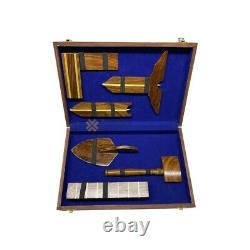 Masonic working wooden tools set with box