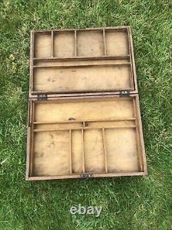 Meccano Set 5 Vintage Wooden Box No Key Original Clean Play Wear Condition
