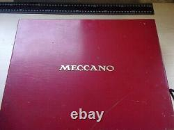 Meccano Vintage Set 2 Red Wooden Box Circa 1930's With Key Very Good Condition