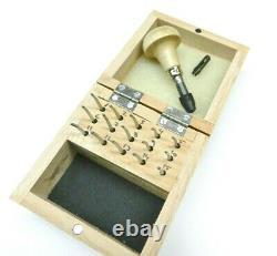 Millgrain Wheel Full Set of All 15 Milgrain Tools Handle & Wooden Storage Box