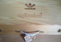NEW Adidas Adicolor W1 White Wooden Box Set 8.5US Very Limited 2006